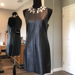 Madison Marcus PU leather dress with silver stones